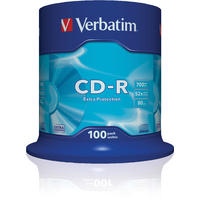 Verbatim Extra Protection Surface 700MB Blank CD-R (52x) - 100 Pack Spindle