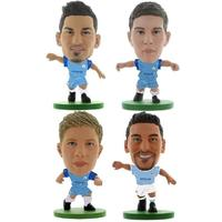 Soccerstarz - Manchester City 4 Player Pack D (4 x Club Blisters in Box) Figures