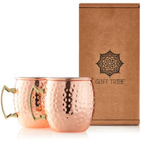 Gin Tribe - Moscow Mule Stainless Steel Cups - Rose Gold (Set of 2)