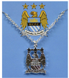 Manchester City - Silver Plated Crest Pendant/Chain