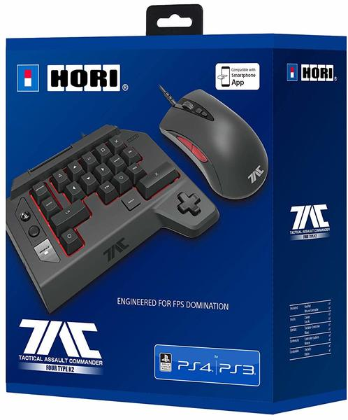 HORI - Official SONY Licensed TAC Four Type M2 - Bluetooth Upgrade Edition  - Mouse and Keyboard Controller for Playstation 4 (PS4)