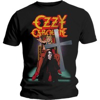 Ozzy Osbourne Speak of the Devil Vintage Men's Black T-Shirt (Small) - Cover