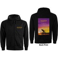 Queen Movie Poster Men's Black Hoodie (X-Large) - Cover