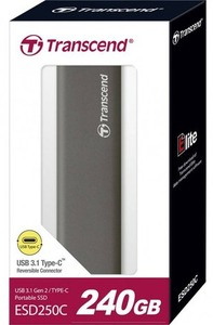 Transcend - 240GB ESD250C USB 3.1 Gen 2 Type C Portable Solid State Drive - Cover