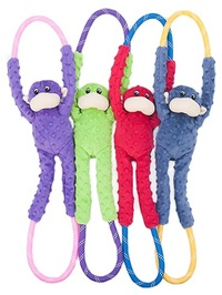 Zippy Paws - Monkey RopeTugz Dog Toy (Red) - Cover