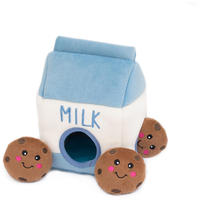 Zippy Paws - Milk and Cookies Burrow Dog Toy