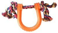 Cosmic Pets - Horse Shoe Tug of War Toy (Orange) - Cover