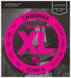 D'Addario ECB81-5 XL Chromes 45-135 5 String Light Long Scale Stainless Steel Flat Wound Bass Guitar Strings
