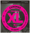 D'Addario ECB81M XL Chromes 45-100 Light Medium Scale Stainless Steel Flat Wound Bass Guitar Strings