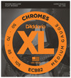 D'Addario ECB82 XL Chromes 50-105 Medium Long Scale Stainless Steel Flat Wound Bass Guitar Strings