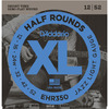 D'Addario EHR350 XL Half Rounds 12-52 Jazz Light Stainless Steel Half Round Electric Guitar Strings