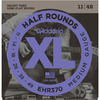 D'Addario EHR370 XL Half Rounds 11-49 Medium Stainless Steel Half Round Electric Guitar Strings