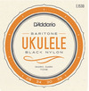 D'Addario EJ53B Pro-Arte Rectified Baritone Ukulele Strings (Black and Silver)