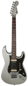 Charvel Super Stock So-Cal 1 Electric Guitar with Floyd Rose Tremolo Bridge (Silver Sparkle)