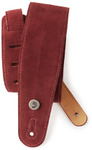 Planet Waves 25SS03-DX 2.5 Inch Suede Instrument Strap (Burgundy)