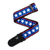 Planet Waves 50A10 2 Inch Woven Instrument Strap (Stars and Stripes)