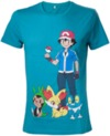 Pokemon - Green with Print Mens T-Shirt (Large)