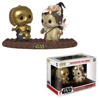 Funko Pop! Star Wars Movie Moment - Star Wars - Encounter On Endor (C3-PO & Ewok On Throne) - Cover