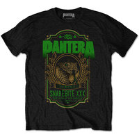 Pantera Snakebite XXX Label Men's Black T-Shirt (Medium) - Cover