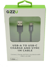 Gizzu - USB 2.0 A to USB-C 1m Cable - Black
