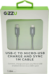 Gizzu - USB-C to Micro USB 1m Cable - Black
