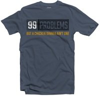 PUBG - 99 Problems Men's Tee - Steel Blue (Small) - Cover