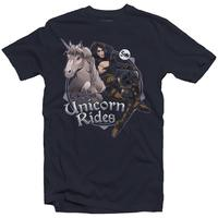 The Witcher 3 - Unicorn Rides - Men's Tee - Navy (X-Large)