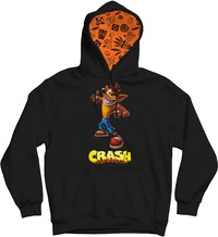 Crash Bandicoot - Youth Hoodie - Black (11-12 Years) (Medium) - Cover