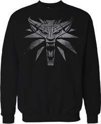 The Witcher 3 - White Wolf - Men's Sweater - Black (Large) - Cover