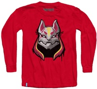 Fortnite - Drift Mask Teen Long Sleeve - Red (15-16 Years) (X-Large) - Cover