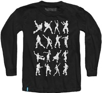 Fortnite - Emotes - Teen Long Sleeve - Black (11-12 Years) (Medium) - Cover