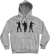 Fortnite - Fresh Tidy Floss - Teen Hoodie - Grey (15-16 Years) (X-Large) - Cover