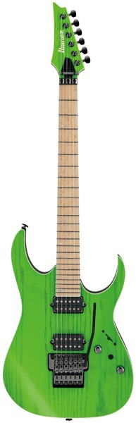 Ibanez RGR5220M-TFG RG Prestige Series Electric Guitar with Case (Transparent Fluorescent Green)