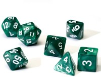 Sirius Dice - Set of 7 Polyhedral Dice - Pearl Green & White - Cover