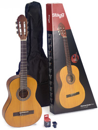 Stagg C430 M 3/4 Classical Acoustic Guitar Pack (Natural) - Cover