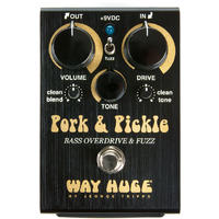 Way Huge Pork and Pickle Overdrive and Fuzz Bass Guitar Effects Pedal (Black)
