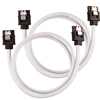 Corsair - Premium Sleeved SATA 6Gbps 60cm Cable - White