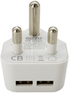 Gizzu - 2 x USB 3-Prong Wall Charger - White