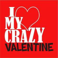 Crazy Valentine Mens T-Shirt Red (X-Large)