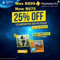 PlayStation Plus 12 Month Membership - 25% Off Promo until 26 March (PS3/PS4/PS VITA) - Cover
