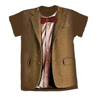 Doctor Who - 10th Doctor Stonehenge Womens Brown T-Shirt (Medium) - Cover
