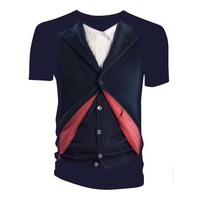 Doctor Who - 12th Doctor Costume Womens Navy T-Shirt (Medium) - Cover
