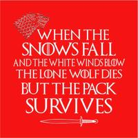 Pack Survives Womens T-Shirt Red (XXX-Large)