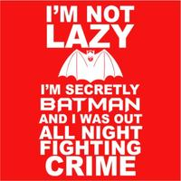Not Lazy Womens T-Shirt Red (X-Small)