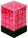 Chessex - 12mm D6 36 Dice Block - Opaque Pink & White