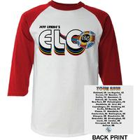 Electric Light Orchestra - 2018 Tour Logo Mens White Long Sleeve Raglan (X-Large) - Cover