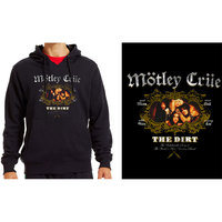 Mötley Crüe - The Dirt Unisex Black Hoodie (Small) - Cover