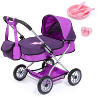 Bayer - Smarty Doll's Pram Set With Bag & Accessories (Purple) - Cover