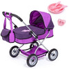 Bayer - Smarty Doll's Pram Set With Bag & Accessories (Purple)