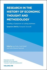Research In The History of Economic Thought And Methodology - Luca Fiorito (Hardcover) - Cover